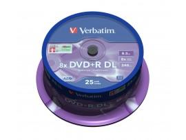 Verbatim 43757 DVD+R Double Layer 8x Matt Silver - 25 pack Spindle