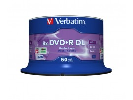 Verbatim 43758 DVD+R Double Layer 8x Matt Silver - 50 pack Spindle