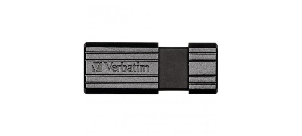 VERBATIM 64GB USB PEN/ DRIVE - PINSTRIPE BLACK - 49065