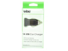 VIBE C4 1Amp USB Car Charger - Black