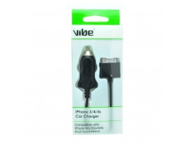 VIBE iPhone 3 / 4 / 4S Car Charger with 1M fixed Cable - 30 pin Connector