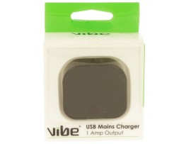 VIBE 1 Amp USB Mains Charger - Cable not included