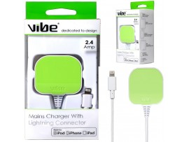 VIBE 2.4 Amp MFI Lighting Mains Charger - 1Metre