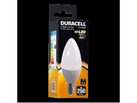 Duracell 4W E14 Candle 250 Lum 2700k WW Frosted Clear Box