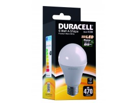 Duracell 6W E27 GLS Classic 470 Lum 2700k WW Frosted Box