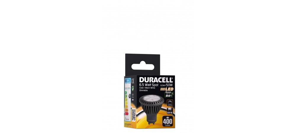 Duracell 6.5W GU10 400 Lum 3000 Clear Dimmable Box