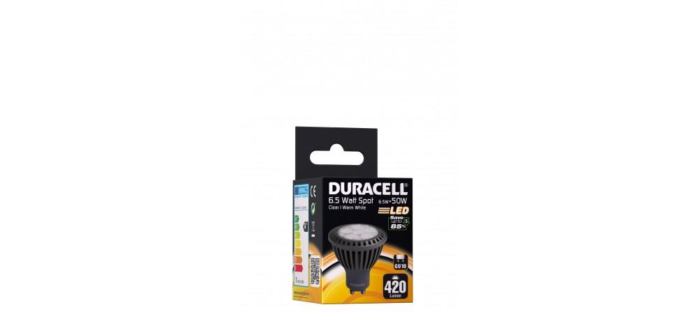 Duracell 6.5W GU10 420 Lum 3000 Clear Box
