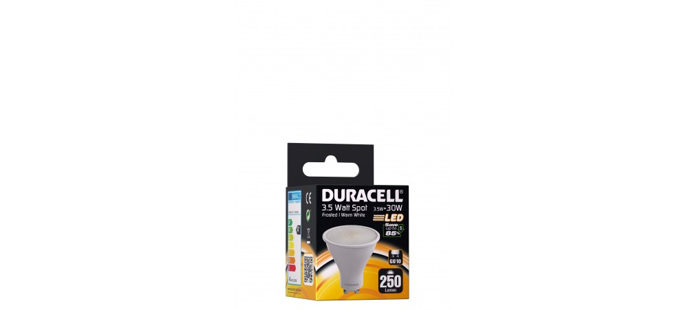 Duracell 4W GU10 250 Lum 3000 Frosted Box