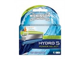 Hydro 5 Power Select Razor Blades by Wilkinson Sword - Pack of 4 Cartridges