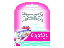 Quattro For Women Razor Blades by Wilkinson Sword - Pack of 3 / 6 Blade Refills