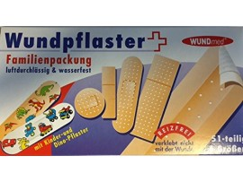 Family Pack of Assorted Plasters. Clinically Tested - 51 per box - Wundmed