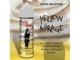 Yellow Mirage (Lemon Meringue Tart) MAX VG E-Liquid - Zero Nicotine - 50ML Short Fill Bottle - Psycho Bunny