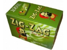 Zig-Zag Green Regular Rolling Papers - Box of 100 Booklets
