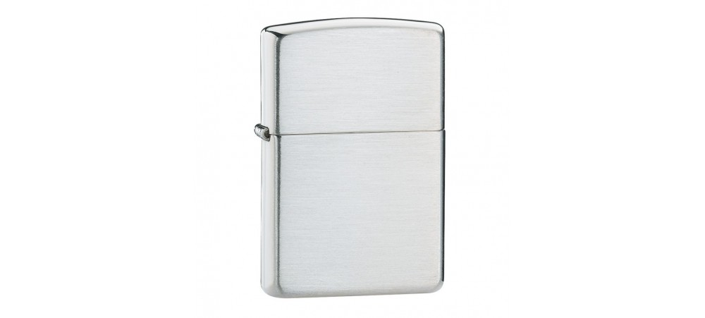 Zippo Classic Windproof Lighter - Brushed Sterling Silver - 13