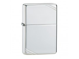 Zippo 1935 Vintage With Slashes Windproof Lighter - High Polished Sterling Silver - 14