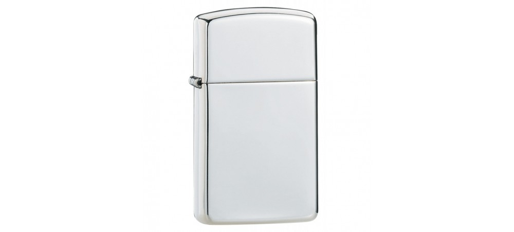 Zippo Slim Windproof Lighter - High Polished Sterling Silver - 1500