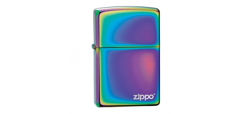 Zippo Classic Windproof Lighter with Logo - Spectrum Multi Coloured - 151ZL