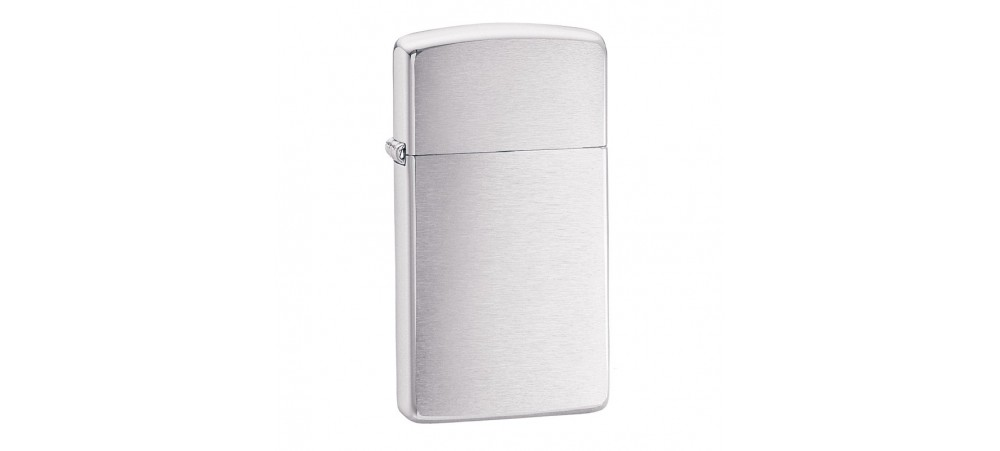 Zippo Slim Windproof Lighter - Brushed Chrome - 1600