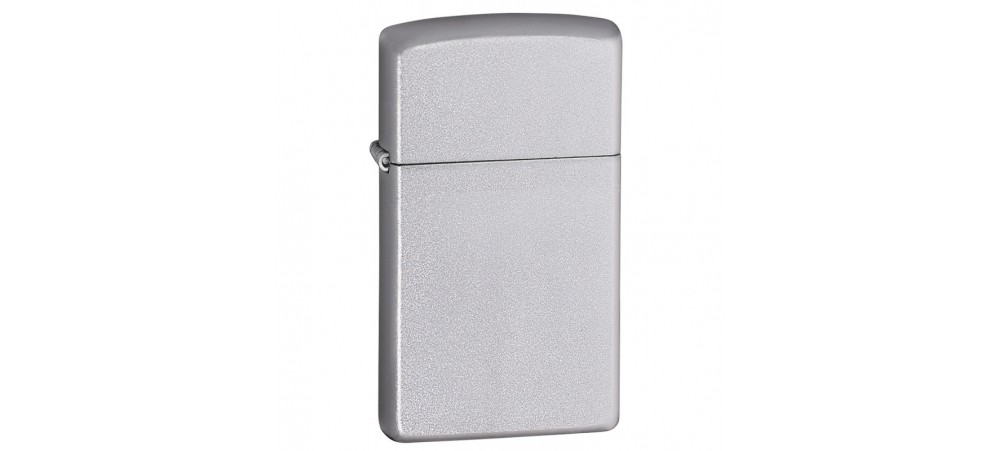 Zippo Slim Windproof Lighter - Satin Chrome - 1605