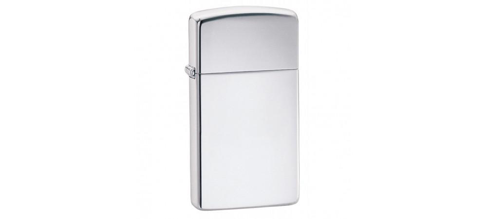 Zippo Slim Windproof Lighter - High Polished Chrome - 1610