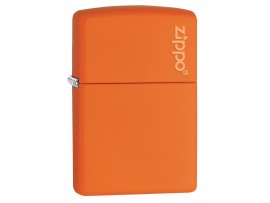 Zippo 231ZL Orange Matte Windproof Lighter with Zippo Logo