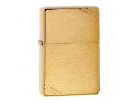 Zippo 240 Vintage with Slashes 1935 Windproof Lighter - Brushed Brass Finish