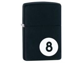 Zippo 28432 8 Ball Windproof Lighter - Black Matte