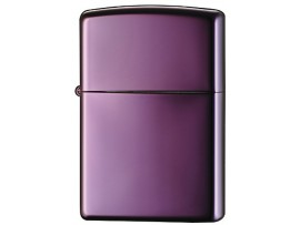 Zippo 24747 Abyss High Polish Purple Windproof Lighter - With or Without Zippo Logo