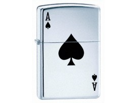 Zippo 24011 Lucky Ace of Spades Windproof Lighter - High Polish Chrome