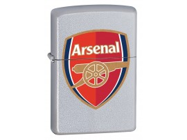 Zippo 205AFC Arsenal Football Club Official Crest Windproof Lighter - Satin Chrome
