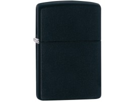 Zippo 218 Black Matte Windproof Lighter - With or Without Logo or Border