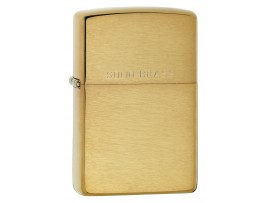 Zippo 204 Brushed Brass Windproof Lighter with Solid Brass engraved