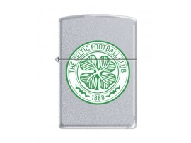 Zippo 205CEL Celtic FC Crest Windproof Lighter - Satin Chrome