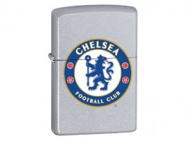 Zippo 205CFC Chelsea FC Crest Windproof Lighter - Satin Chrome