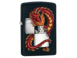 Zippo 218DRAG Dragon Windproof Lighter - Black Matte