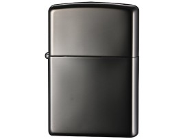 Zippo 24756 Ebony High Polish Black Windproof Lighter - With or Without Zippo Logo