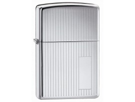 Zippo 350 Engine Turned Windproof Lighter - High Polished Chrome