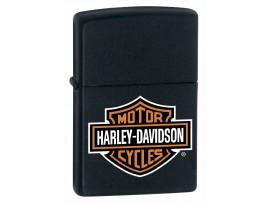 Zippo 218HD.H252 Harley Davidson Motor Cycles Logo Classic Lighter - Black Matte Finish