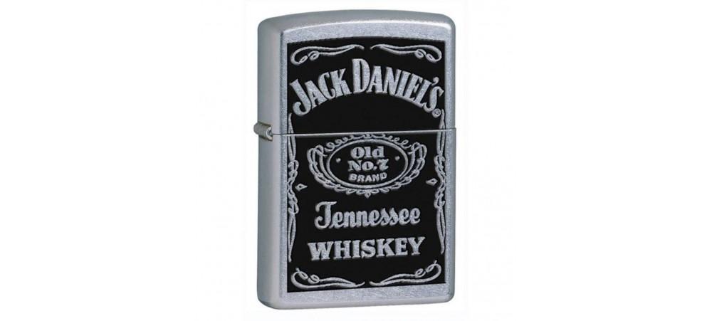 Zippo 24779 Jack Daniel's Label Classic Windproof Lighter - Street Chrome Finish