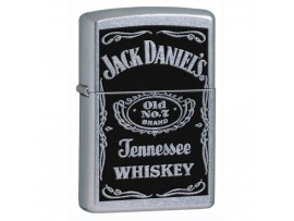 Zippo 24779 Jack Daniel's Label Classic Windproof Lighter - Street Chrome Finish
