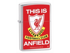 Zippo 205ANFIELD This Is Anfield Liverpool FC Windproof Lighter - Satin Chrome