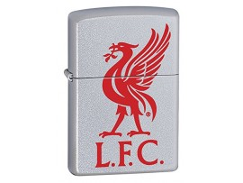 Zippo 60000355 Liverpool FC Printed Crest Windproof Lighter - Satin Chrome