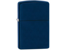Zippo 239 Navy Blue Matte Windproof Lighter - With or Without Zippo Logo