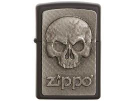 Zippo Phanton Skull Zippo Logo Emblem Windproof Lighter - Black Matte - 2003546