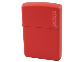 Zippo 233 Red Matte Windproof Lighter - with or without Zippo Logo