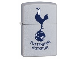 Zippo 205THFC1 Tottenham Hotspur FC Printed Crest Windproof Lighter - Satin Chrome