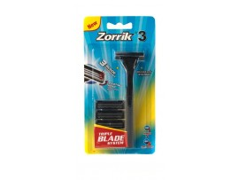 Zorrik 3 Triple Blade Razor with 5 Blades