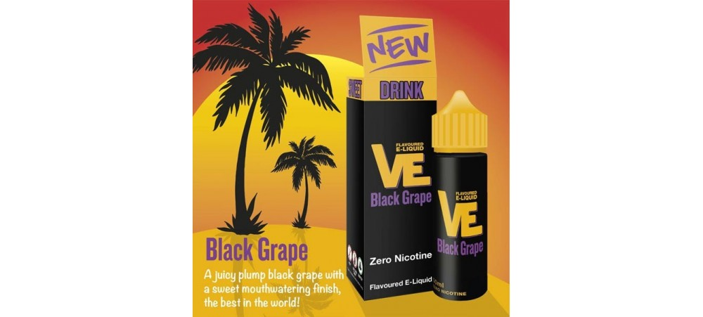 Black Grape VE Drink Flavoured E-Liquid KA - MAX VG - SUB OHM - Nicotine Free - 50ml Shortfill