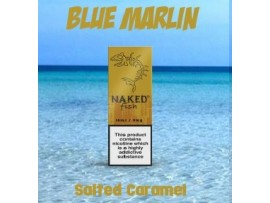 Blue Marlin (Salted Caramel) 70VG Sub Ohm 10ml Deluxe E-Liquid - Naked Fish - Made in USA - 6MG
