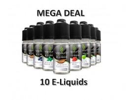 Any 10 E-Liquid - mix & match strength & flavour - Vapouriz